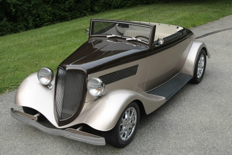 1934 Ford Hot rod Cabriolet Convertible Fiberglass body Rumble seat for sale