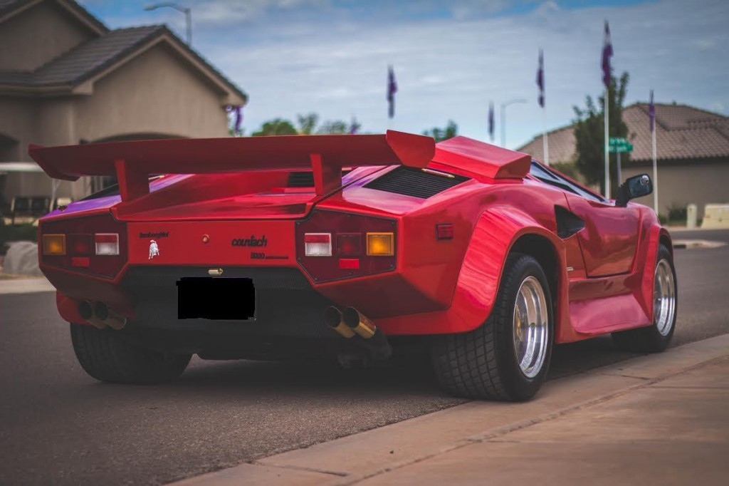 lamborghini countach beautiful red 1988 model replica for sale. Black Bedroom Furniture Sets. Home Design Ideas
