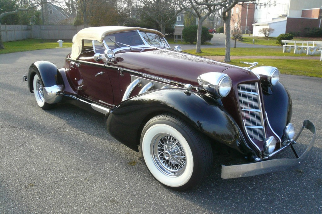 1936 auburn boattail speedster replica ford powered for sale. Black Bedroom Furniture Sets. Home Design Ideas