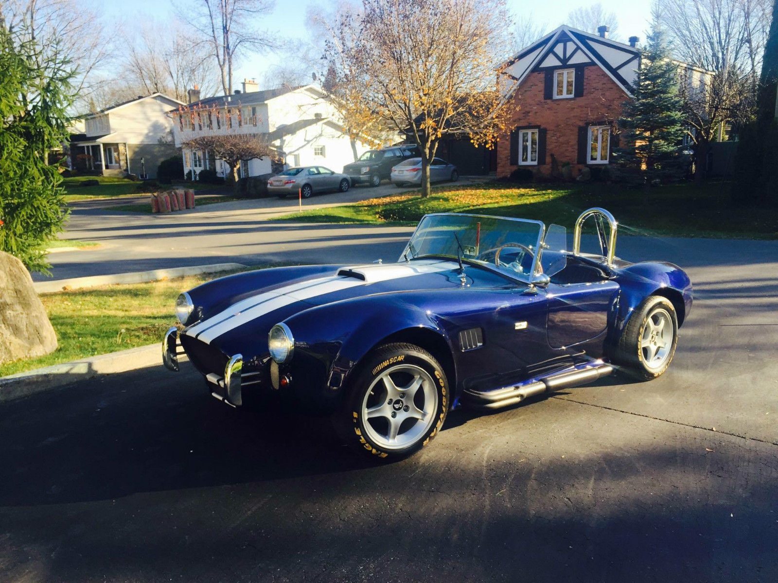 1965 shelby cobra beautiful blue roadster kit car v8 for for Motor cars for sale