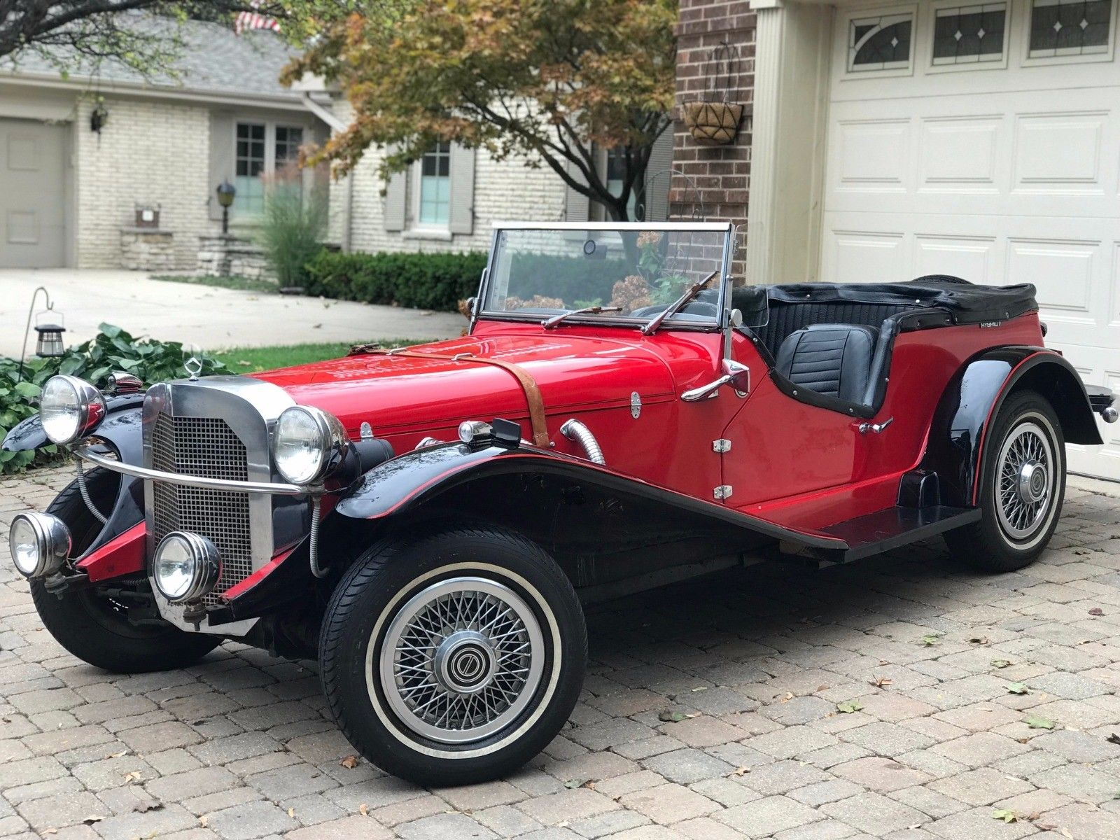 Pinto engine 1929 mercedes benz gazelle kit car replica for Mercedes benz used cars in germany for sale