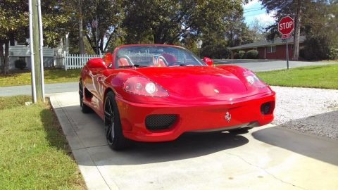 great looking 2000 ferrari 360 spider convertible REPLICA for sale