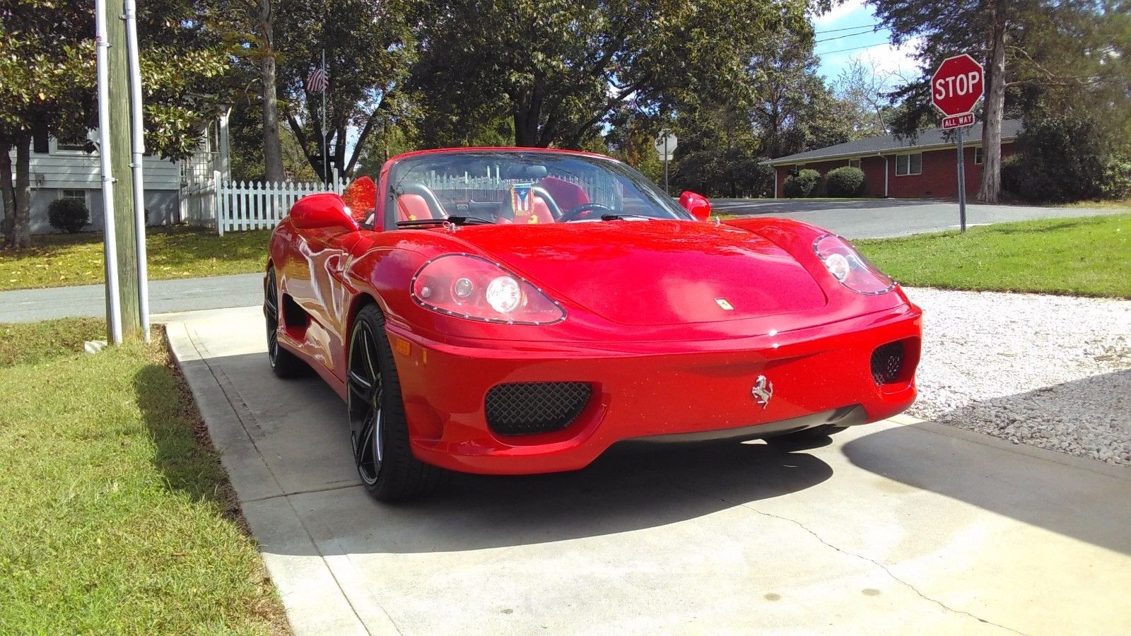 great looking 2000 ferrari 360 spider convertible replica for sale. Black Bedroom Furniture Sets. Home Design Ideas