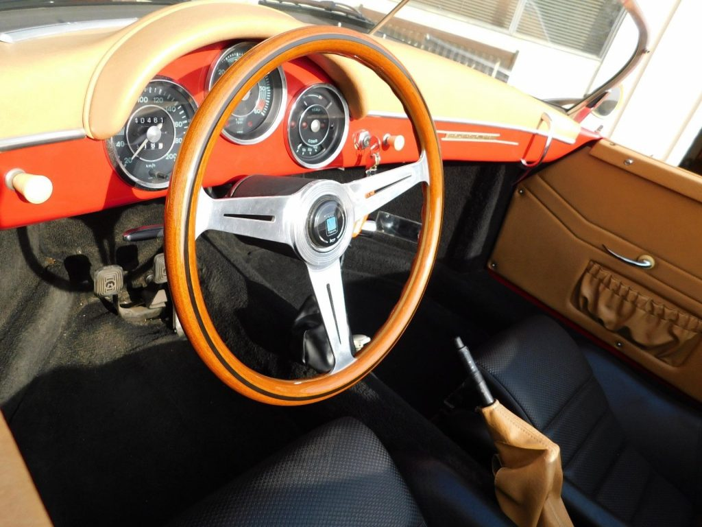 classic sport car 1957 356 Porsche Speedster Replica
