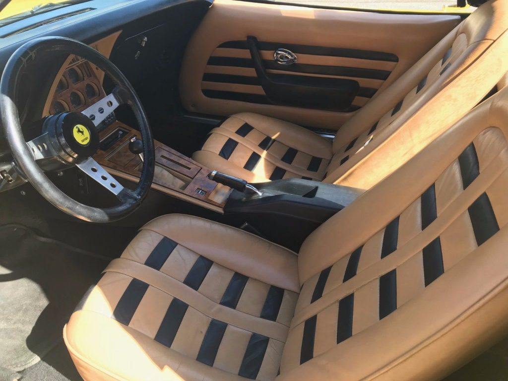 Corvette based 1977 Ferrari Daytona Spyder McBurine Replica