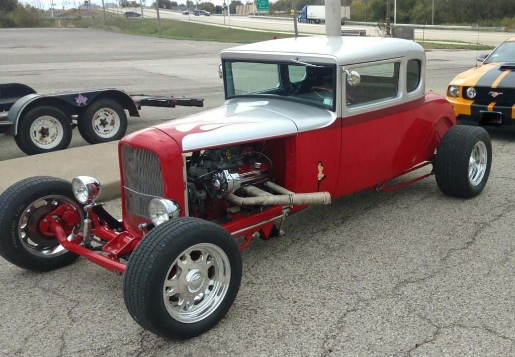 old school 1930 Ford Model A Coupe Replica