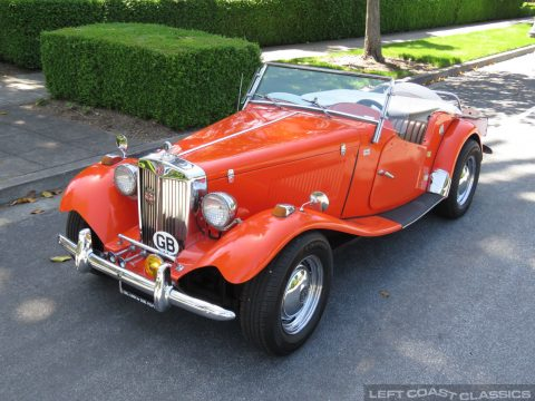classic 1952 MGTD Replica for sale