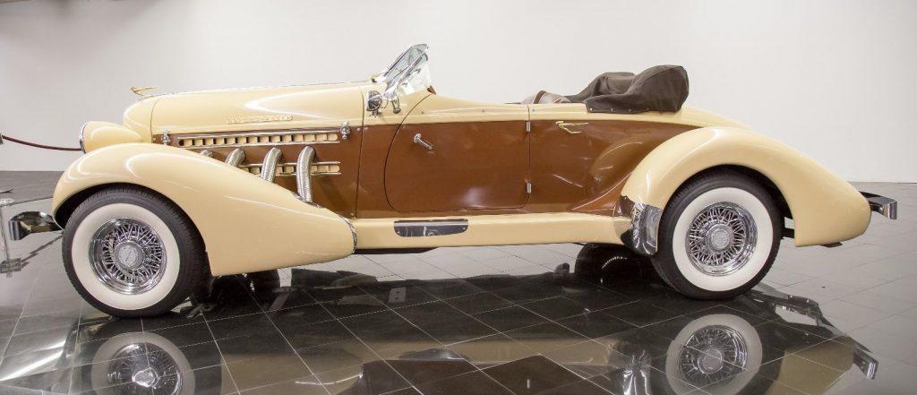 low miles 1936 Auburn 876 Boattail Phaeton Replica