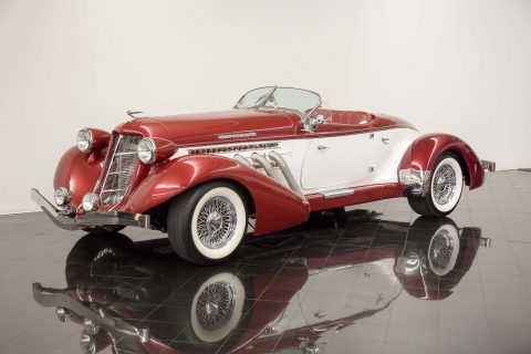 low miles 1936 Auburn 852 Boattail Replica for sale
