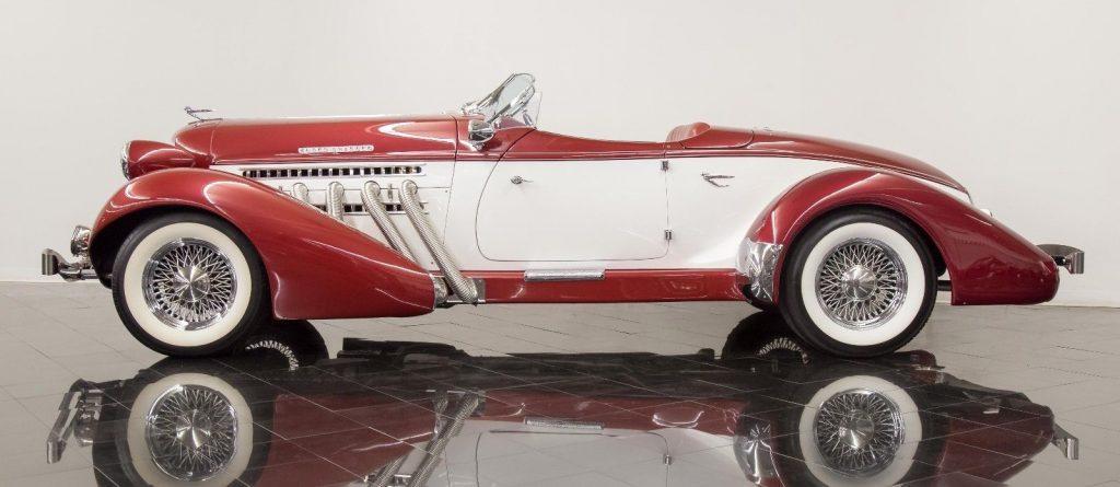 low miles 1936 Auburn 852 Boattail Replica