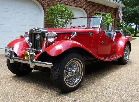 low miles 1952 MGTD Fiberfab Replica for sale