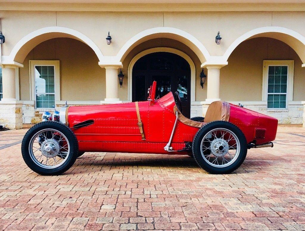 classic 1927 Bugatti Boat Tail Type 35 Replica
