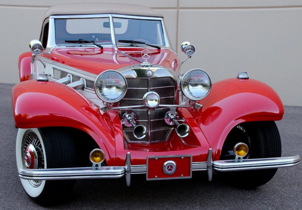 full of goodies 1934 Mercedes Benz 540K Cabriolet Replica