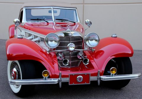 full of goodies 1934 Mercedes Benz 540K Cabriolet Replica for sale