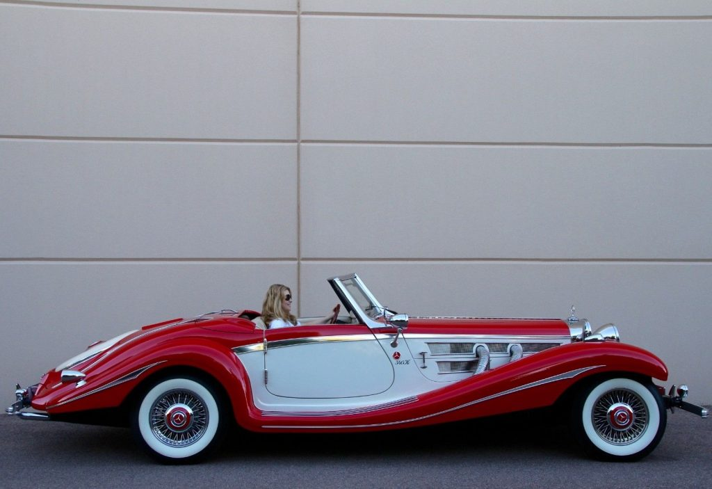 full of goodies 1934 Mercedes Benz 540K Cabriolet Replica