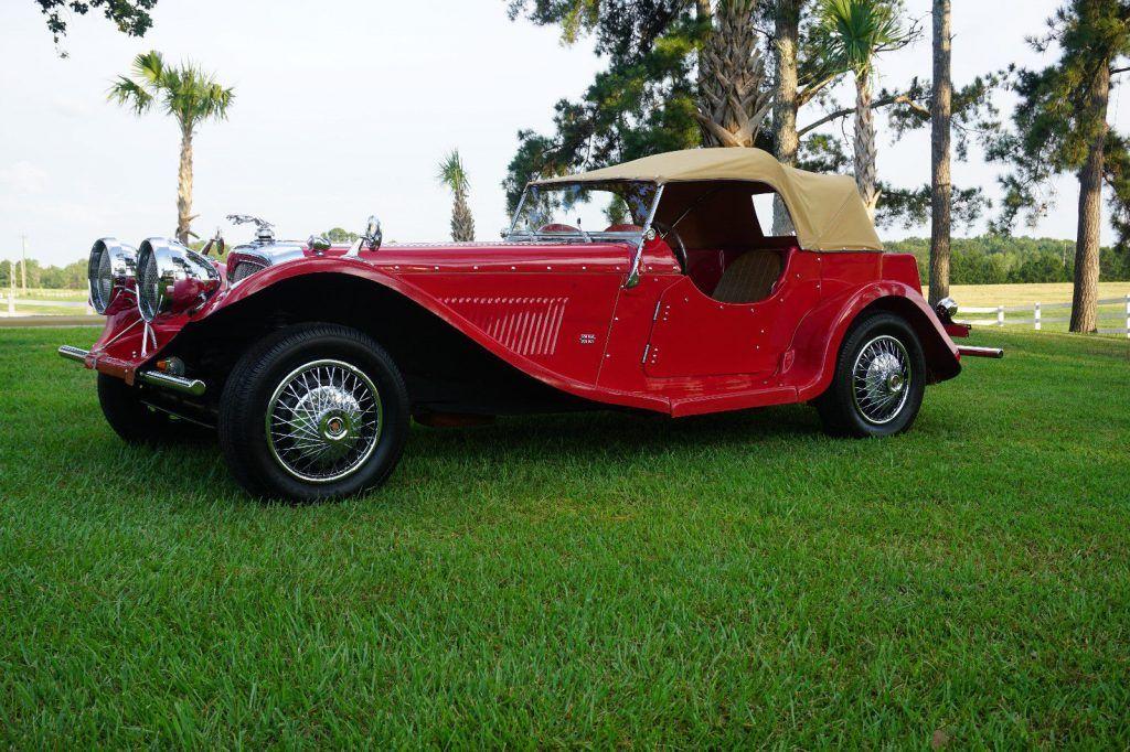 classic 1937 Jaguar SS100 Replica