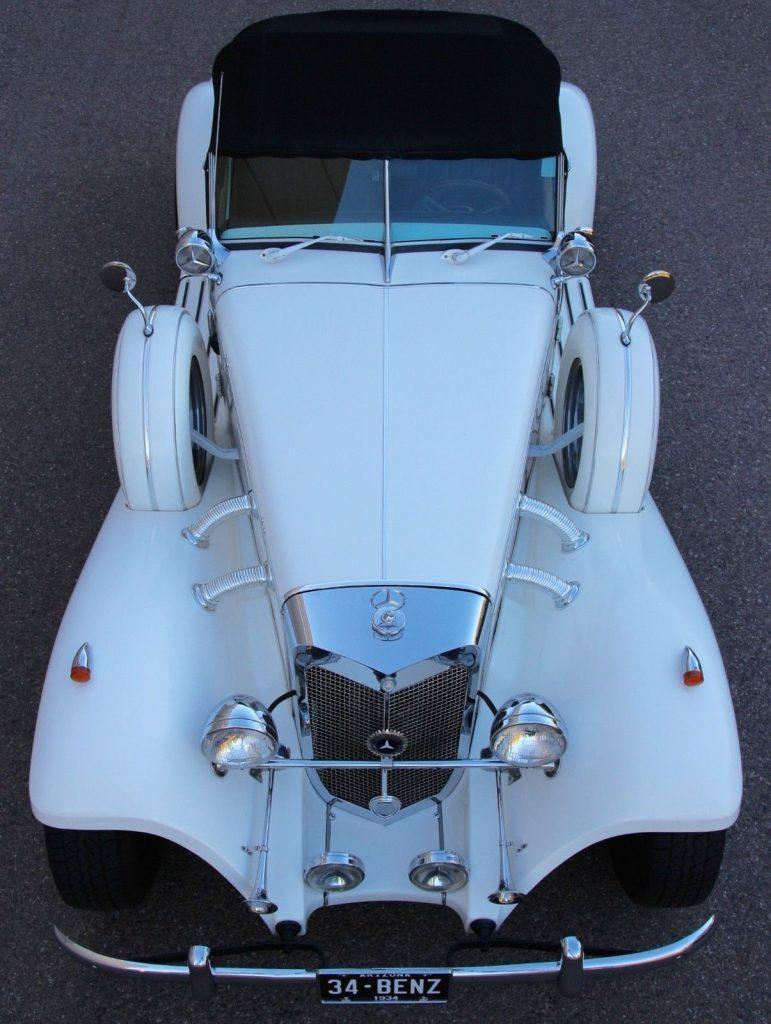 nice and shiny 1934 Mercedes Benz 540K Cabriolet Replica
