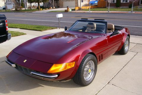 Corvette based 1972 Ferrari Daytona Convertible Replica for sale