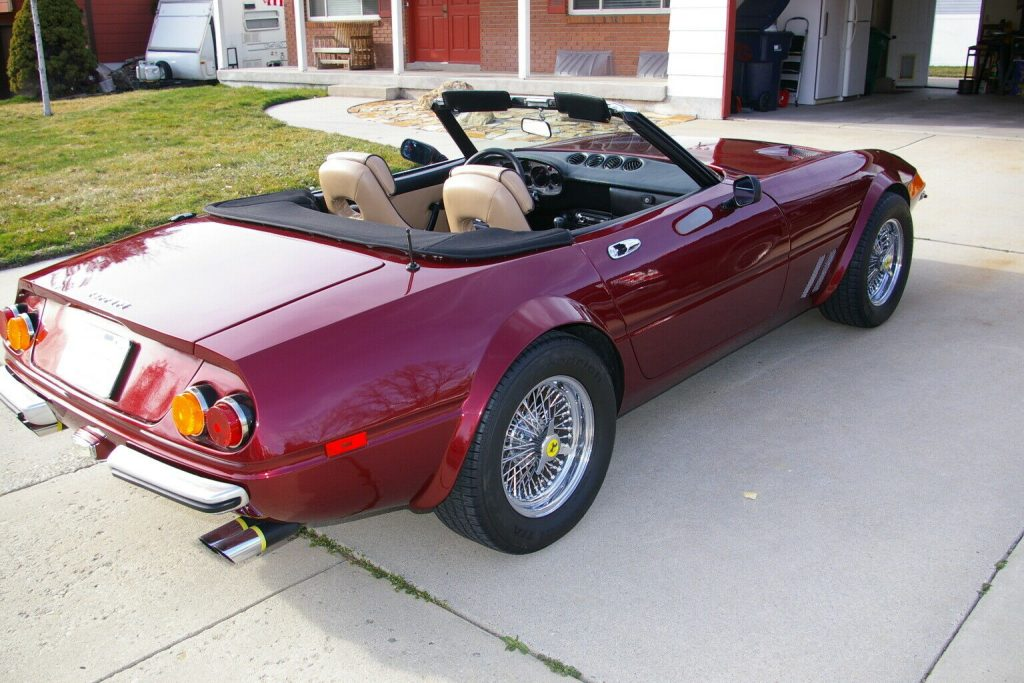 Corvette based 1972 Ferrari Daytona Convertible Replica