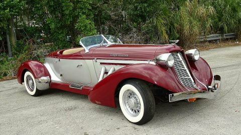 low miles 1987 Auburn BOAT TAIL SPEEDSTER Replica for sale