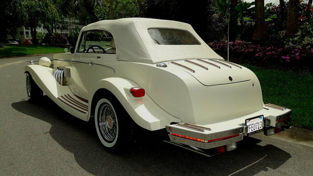 classic 1980 Clenet Series II Convertible Mercedes replica