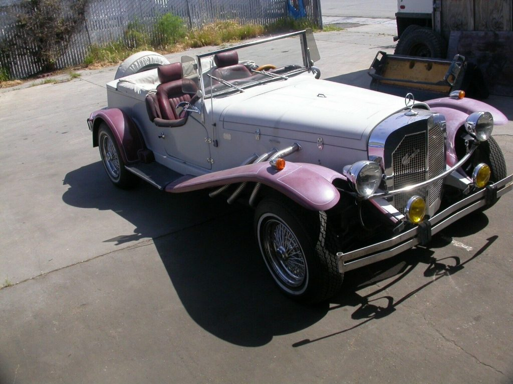 low miles 1929 Mercedes Gazelle Replica