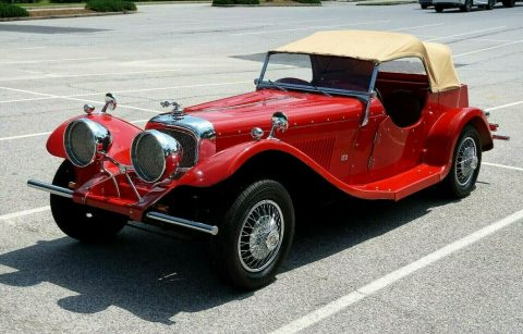 low miles 1937 Jaguar SS100 Replica for sale
