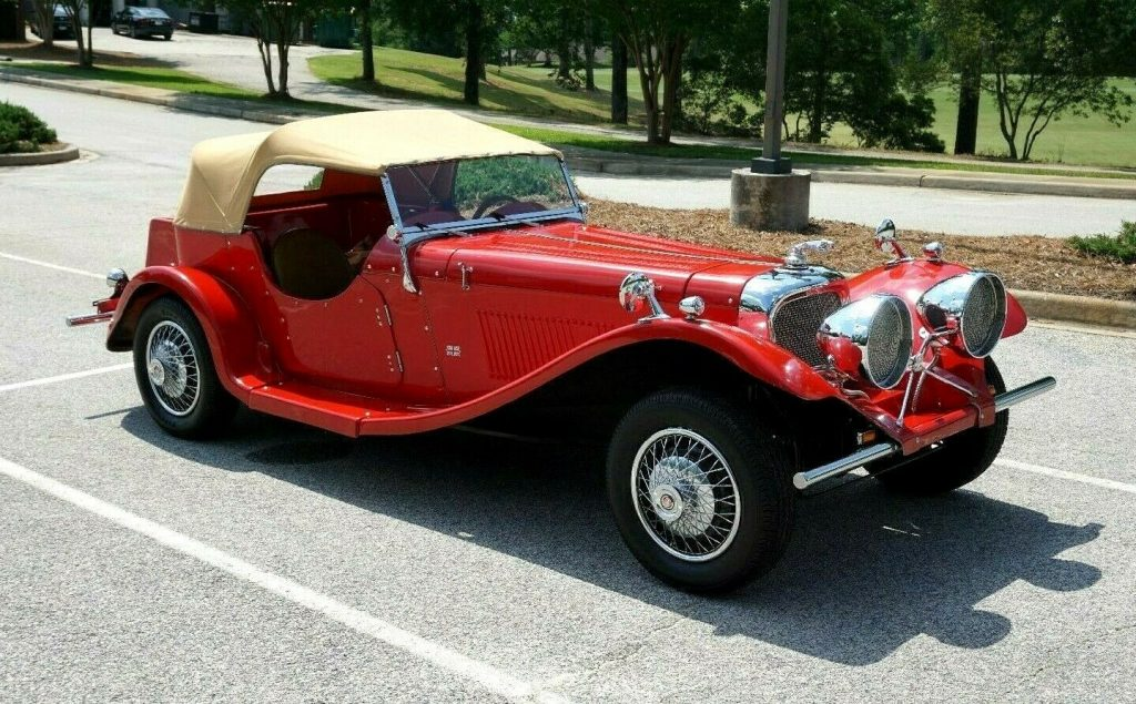 low miles 1937 Jaguar SS100 Replica