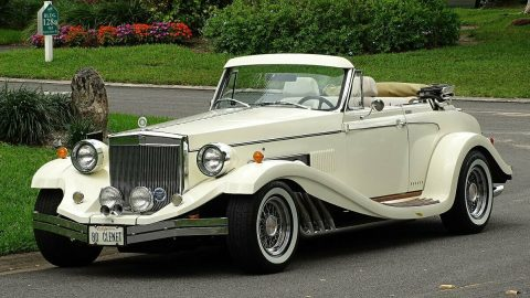 vintage looking 1980 Clenet Series II Convertible Mercedes replica for sale