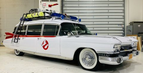 Ecto 1 1959 Cadillac Commercial Chassis Miller Meteor hearse replica for sale